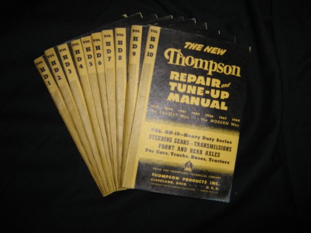 1941 THOMPSON REPAIR MANUAL SET WITH METAL CASE (RARE) 1941-1950 RARE REPAIR MANUAL SET WITH METAL