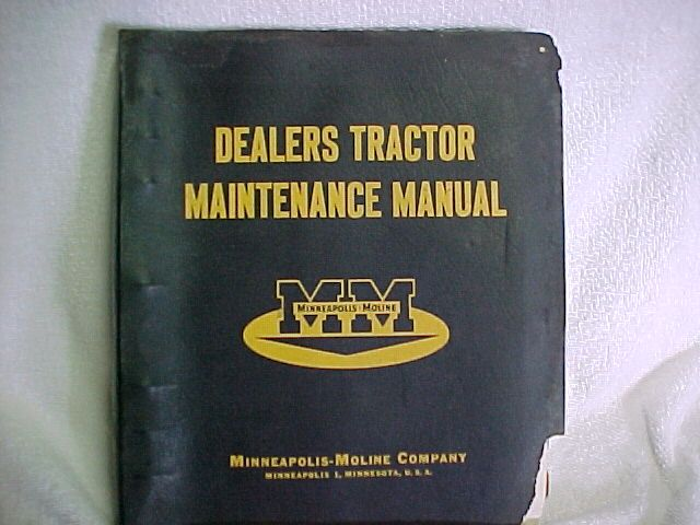 1958 MINNEAPOLIS MOLINE SERVICE MANUAL