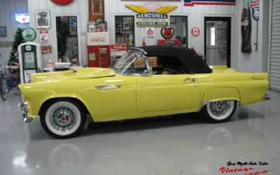 1955 Ford Thunderbird Convertible / Yellow