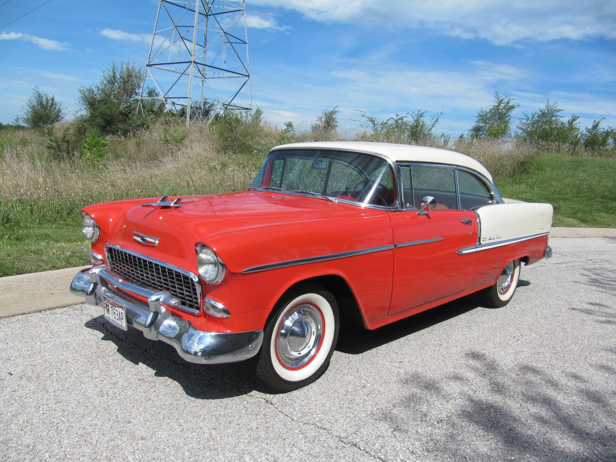 1955 Chevrolet Bel Air Sport Coupe Factory Air Conditioning For Sale Autabuy Com