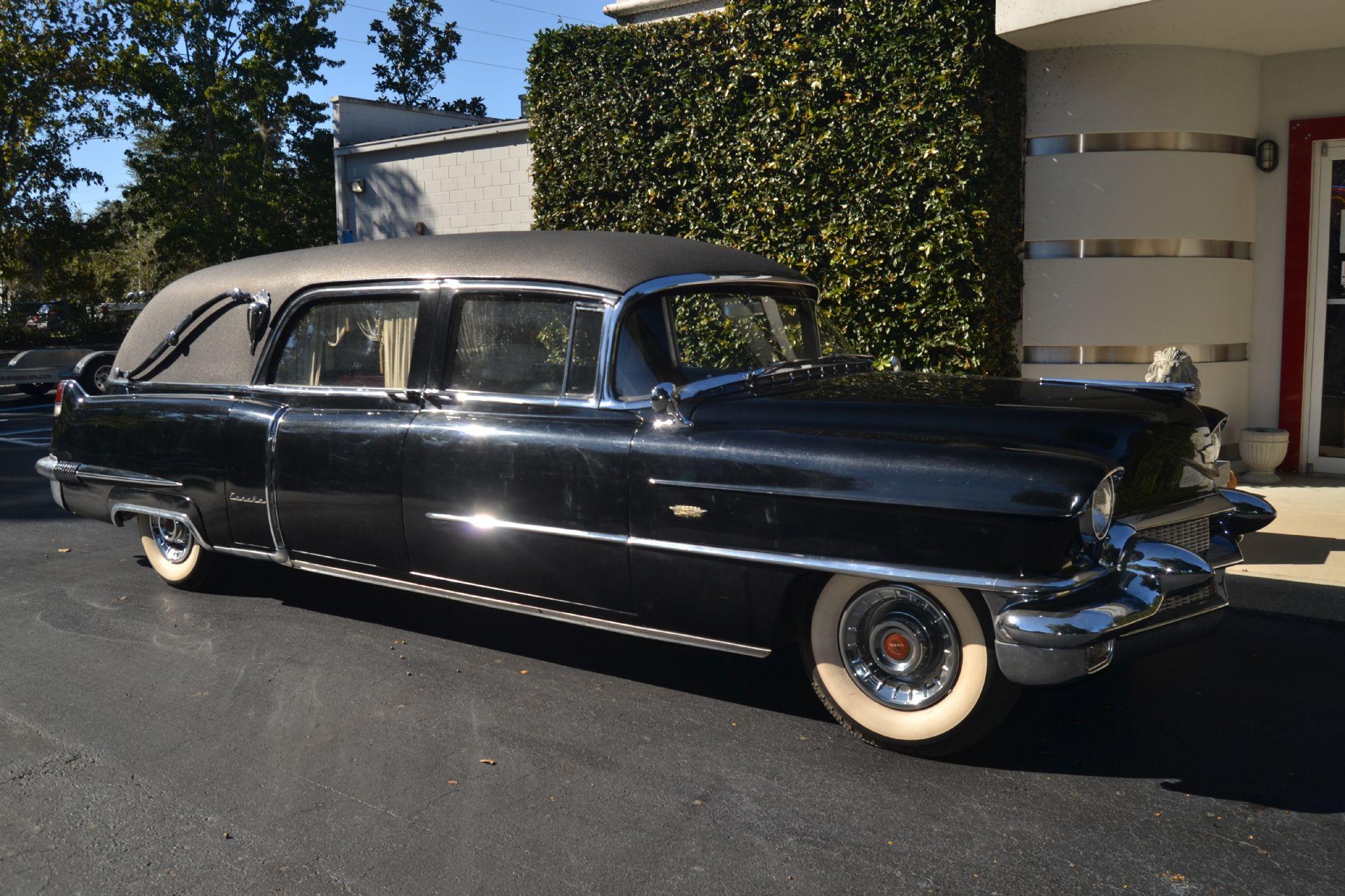 1956 Cadillac Eureka Landau Hearse 3-WAY Sideloader 8680SS For Sale |  AutaBuy com