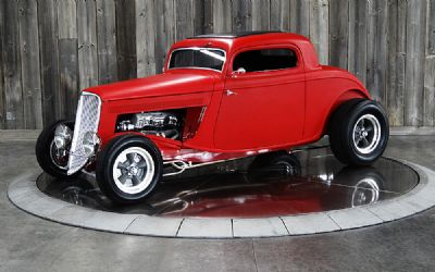 1933 Ford 3 Window Coupe Dual Quad, AC, Automatic
