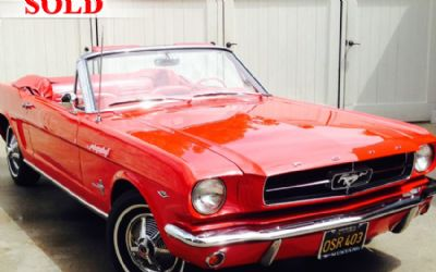 1964 Ford Mustang Convertible (1964 1/2) - Sold!