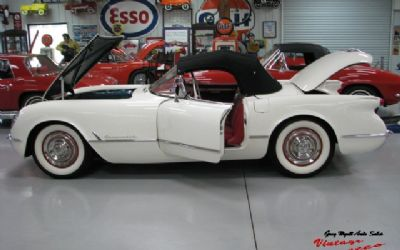 1953 Chevrolet Corvette Polo White / Red Interior Duntov