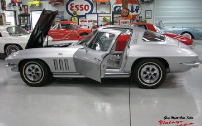 1965 Chevrolet Corvette Silver/Silver Interior Factory Air 4 Speed