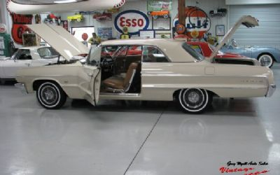 1964 Chevrolet Impala Beige / Brown Interior 327-300HP