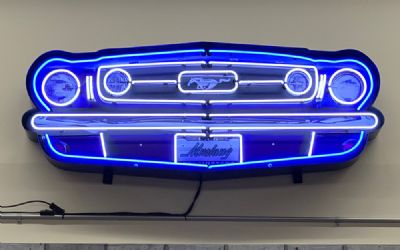 Ford Mustang Grill Neon Sign