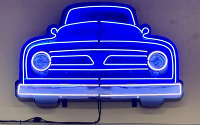 Ford V8 Truck Grill Neon Sign IN Shaped Steel