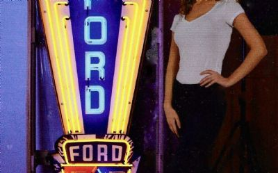 Ford Jubilee Neon Sign IN Metal Can
