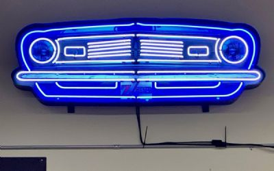 Chevrolet Camaro Grill Neon Sign IN Shaped Steel Can