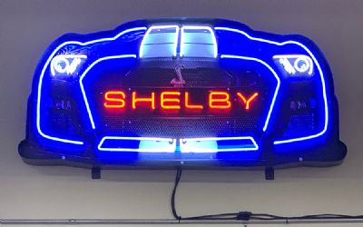 Shelby GT 500 Grill Neon Sign IN Shaped Steel Can