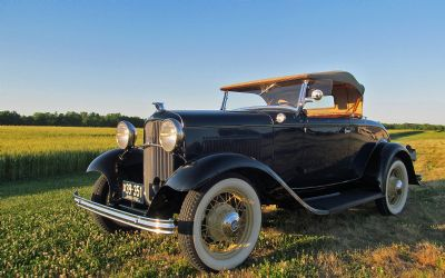 1932 Ford Deluxe V-8 Roadster With Rumble Seat