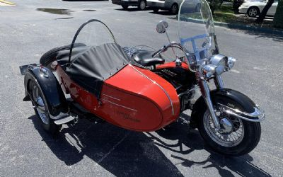 1953 Harley Davidson Motorcycle With Sidecar