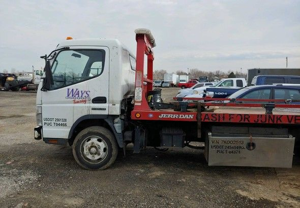 2007 Mitsubishi Fuso Flatbed Tow Truck For Sale Autabuy Com