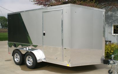 Look 7X12 Aluminum Cycle Trailer Cycle